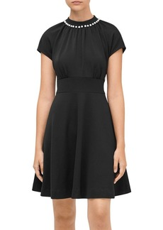 kate spade new york Pearl-Pav� Crepe Dress
