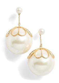 kate spade new york pearlette drop earrings