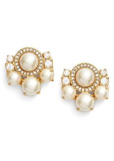 kate spade new york pearls of wisdom cluster stud earrings