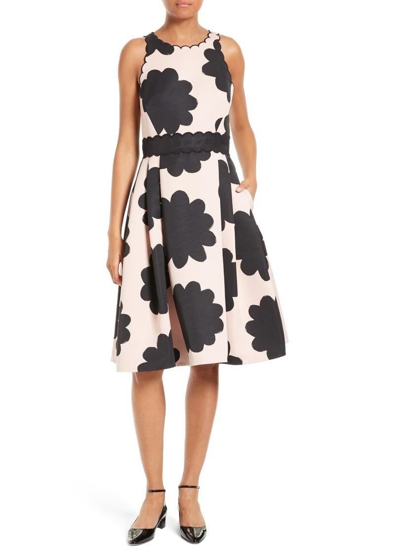 c405ab265bf Kate Spade kate spade new york petal stamp fit   flare dress