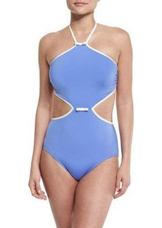 kate spade new york plage du midi cutout one-piece swimsuit