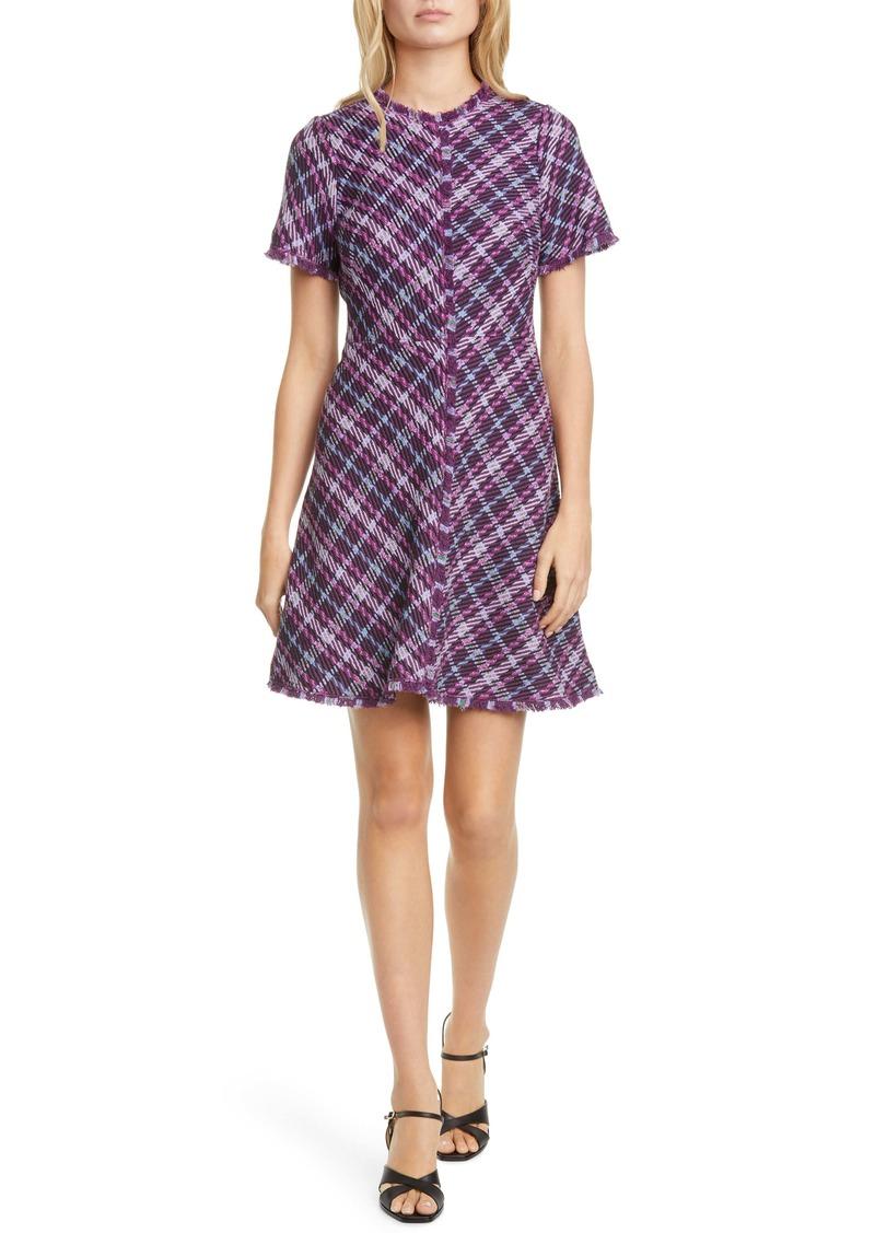 kate spade new york plaid tweed dress