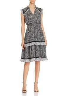 kate spade new york Plains Ditsy Ruffled Tiered Dress