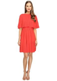Kate Spade New York Pleated Cape Dress