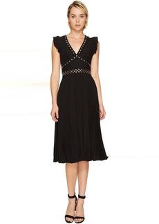 Kate Spade New York Pleated Stud Crepe Dress