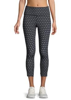 Kate Spade polka-dot scallop crop leggings