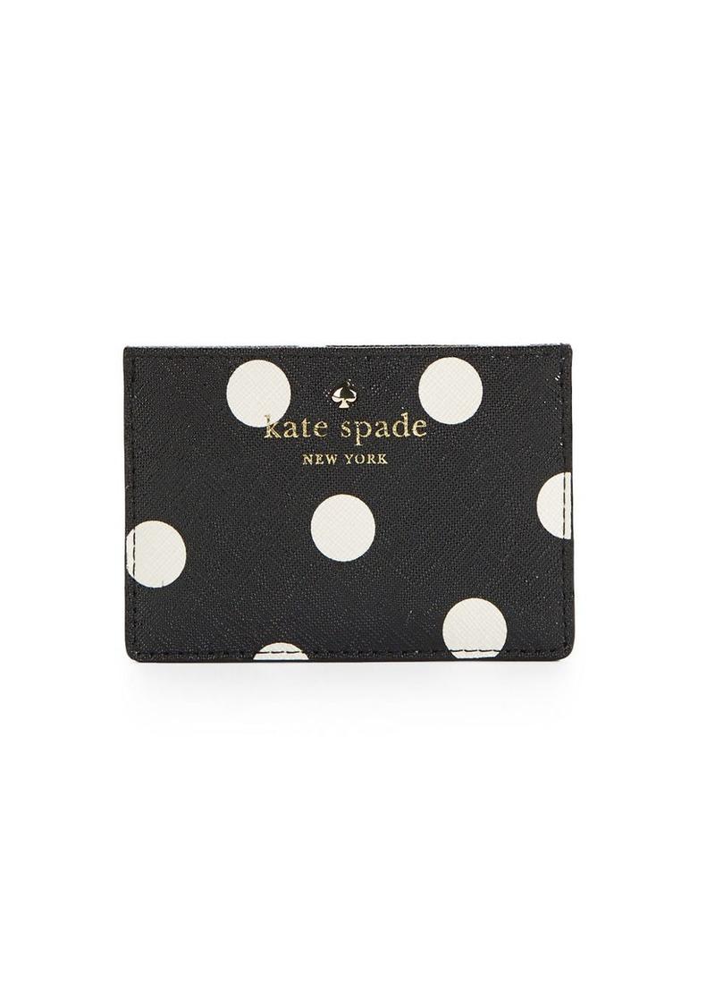 KATE SPADE NEW YORK Polka Dotted Card Holder