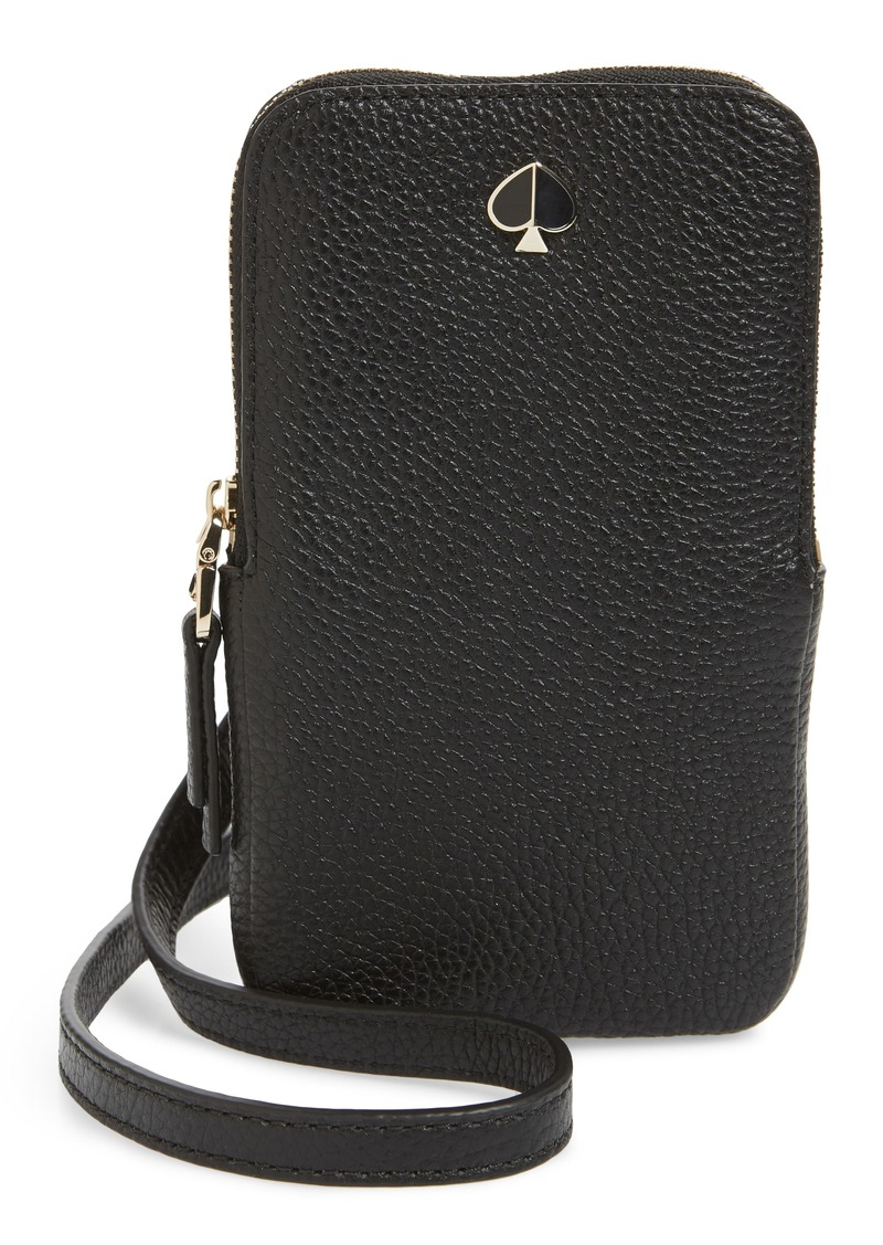 kate spade new york polly leather phone crossbody bag