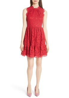 kate spade new york poppy field lace fit & flare dress