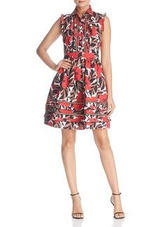 kate spade new york Poppy Field Ruffle Shirt Dress