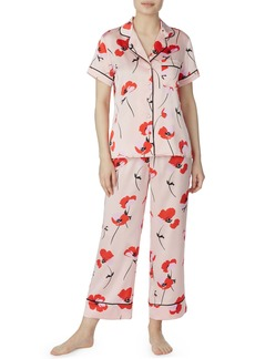 kate spade new york poppy print charmeuse pajamas