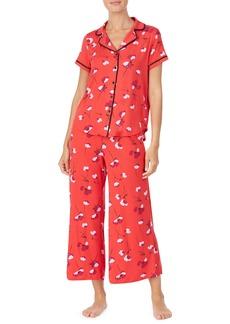 kate spade new york poppy print pocket pajamas