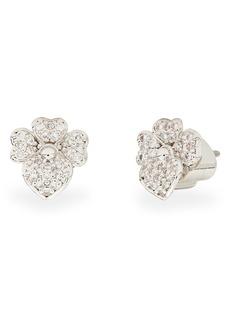 kate spade new york precious pansy pavé stud earrings