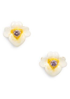 kate spade new york precious pansy stud earrings