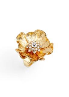 kate spade new york precious poppies crystal ring