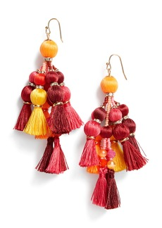 kate spade new york pretty pom tassel drop earrings