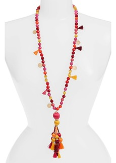 kate spade new york pretty poms tassel necklace