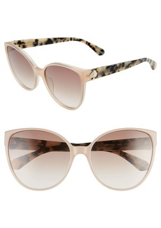 kate spade new york primrose 60mm gradient cat eye sunglasses