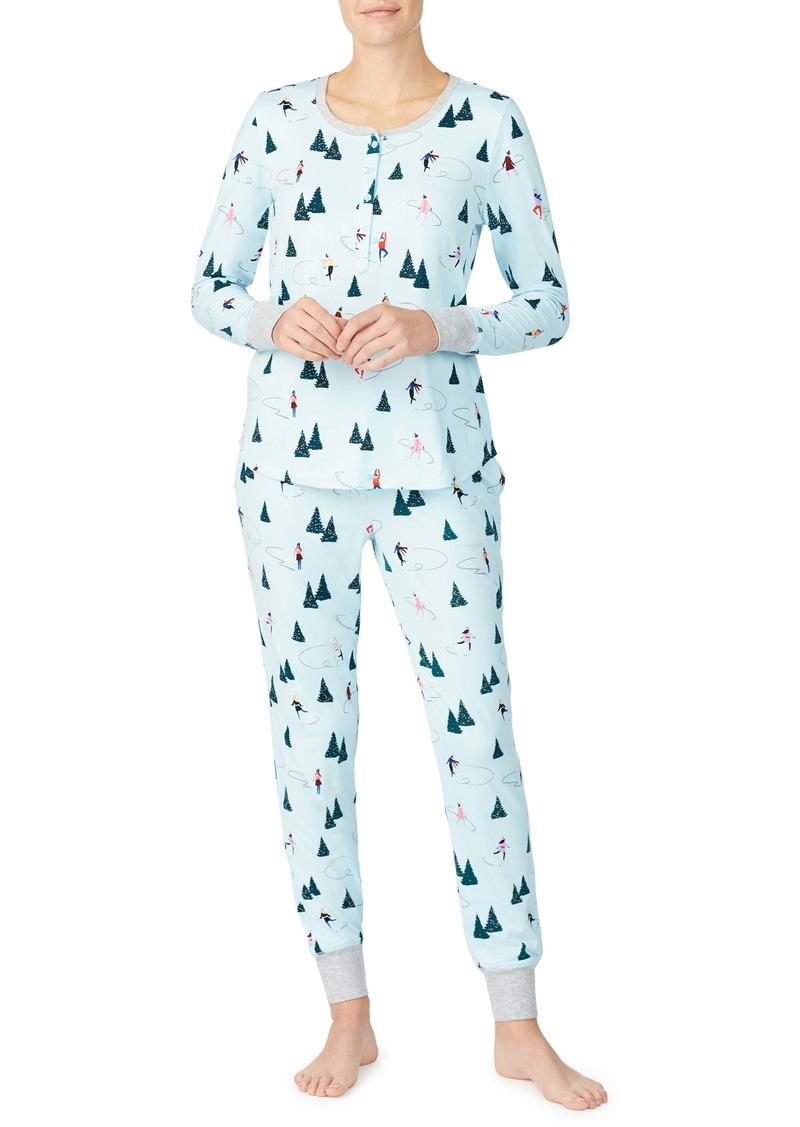 kate spade new york print brushed jersey pajamas