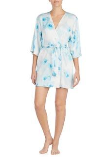 kate spade new york print charmeuse short robe