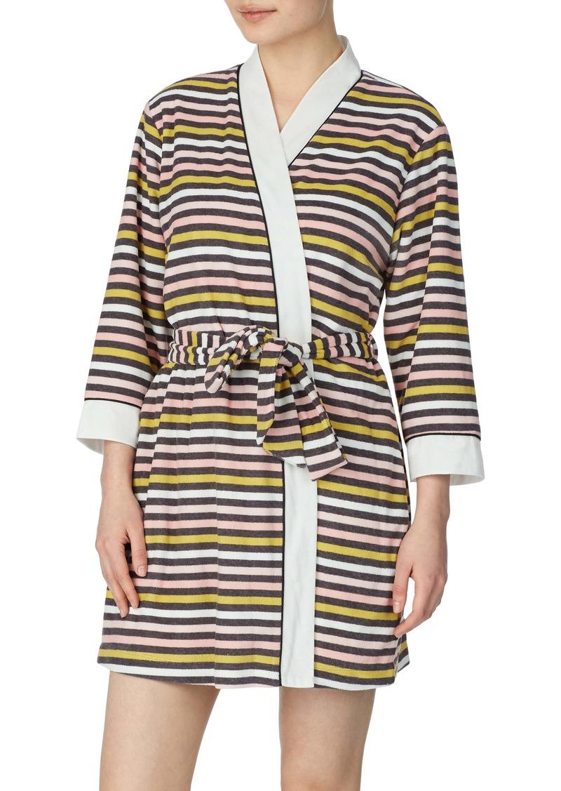 kate spade new york print short terry robe