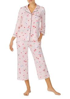 kate spade new york Printed Cropped Pajama Set
