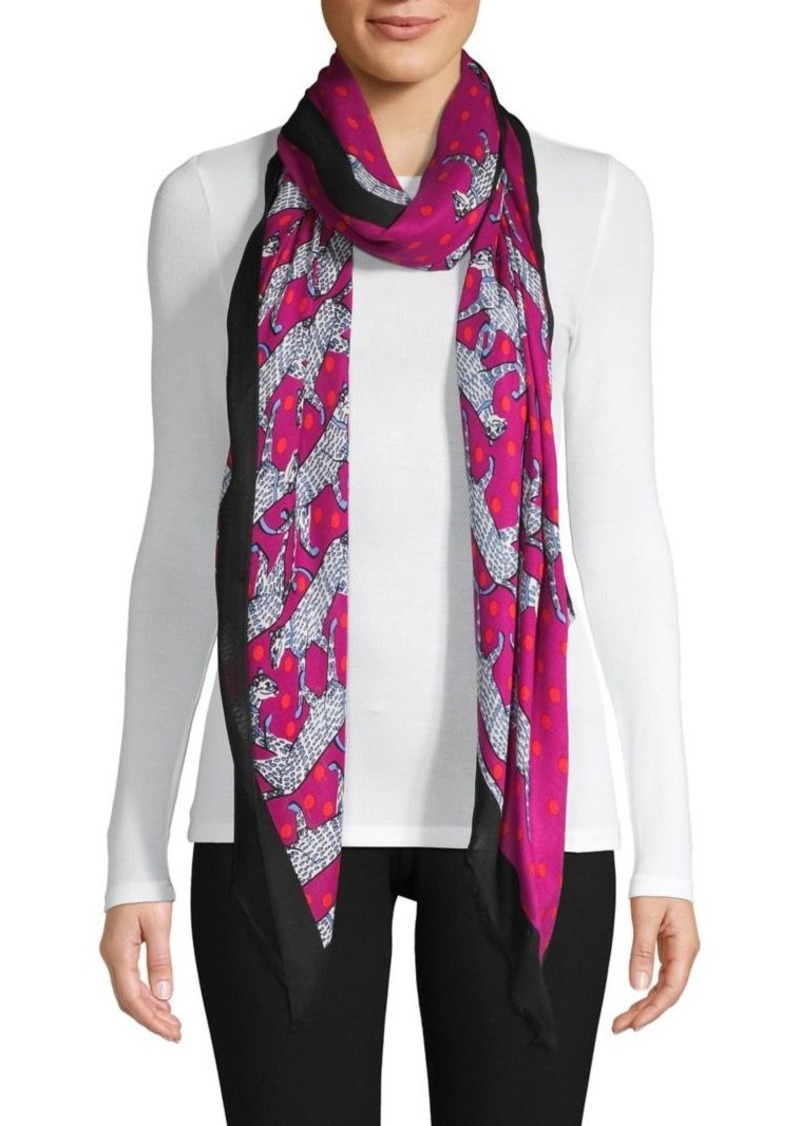 Kate Spade New York Printed Fringe Scarf