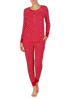 kate spade new york Printed Long Sleeve Pajama Set