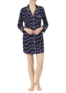 Kate Spade New York Printed Notch Collar Sleepshirt