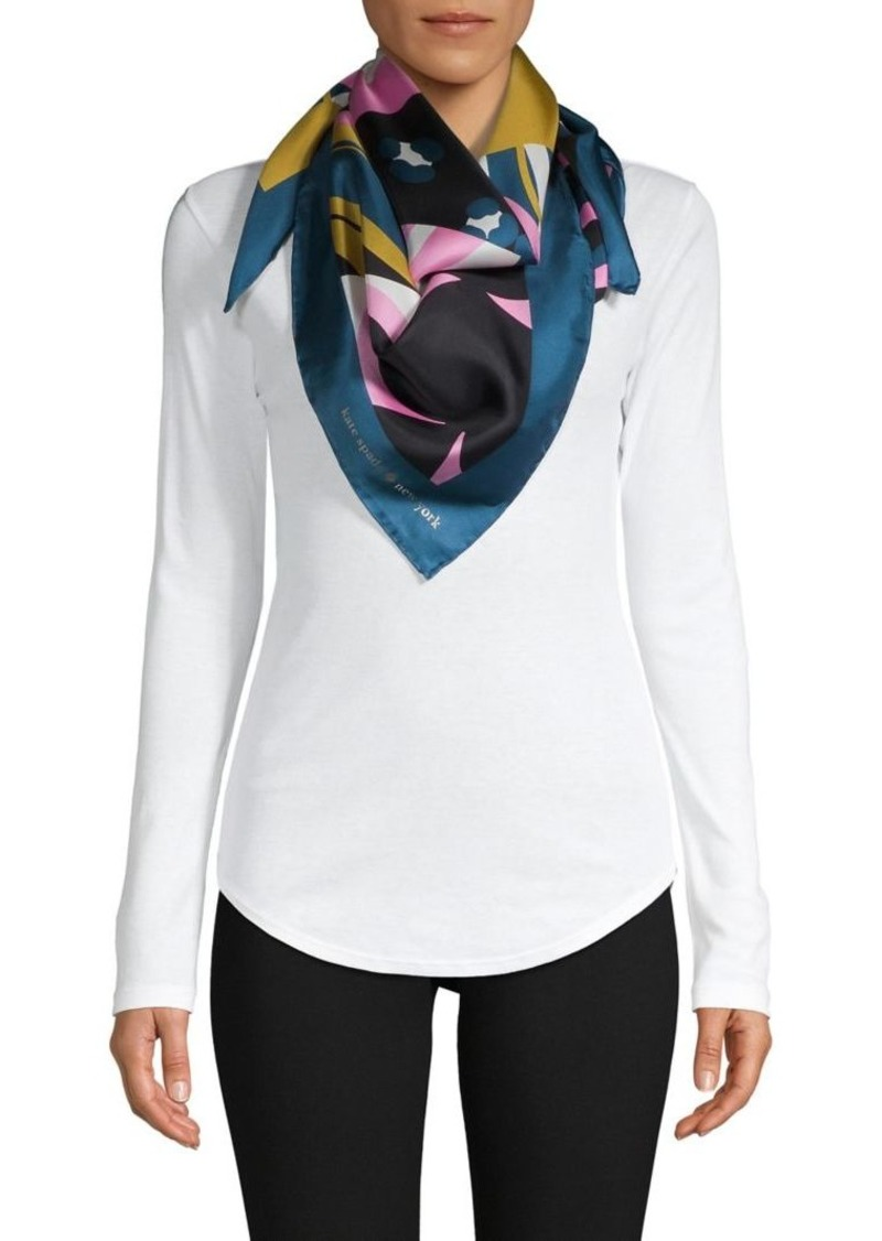 Kate Spade New York Printed Silk Scarf