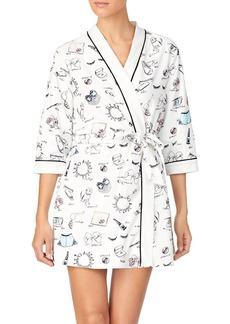 kate spade new york Printed Wrap Robe
