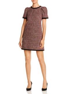 kate spade new york Puff-Sleeve Metallic Tweed Dress