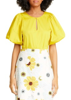 kate spade new york puff sleeve poplin blouse