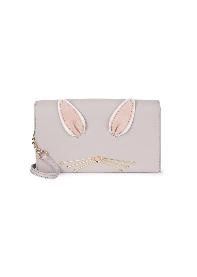 KATE SPADE NEW YORK Rabbit Leather Wallet