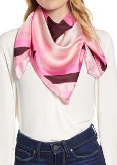 kate spade new york radiating spade square silk scarf
