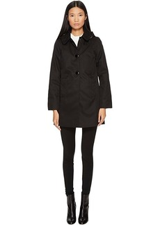 Kate Spade New York Rain Button Front Hooded Jacket