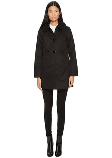Kate Spade Rain Button Front Hooded Jacket