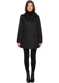 Kate Spade New York Rain Double-Breasted Hooded Jacket