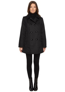 Kate Spade Rain Double-Breasted Hooded Jacket