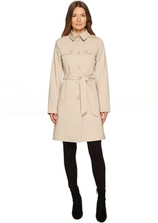 Kate Spade New York Rain Tie Waist Fit and Flare Trench Coat