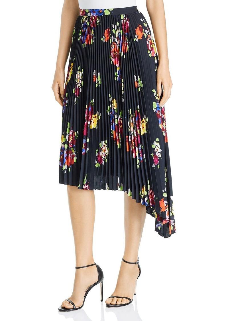 kate spade new york Rare Roses Pleated Asymmetric Skirt