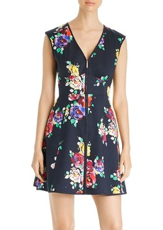 kate spade new york Rare Roses Poplin Zip-Front Dress