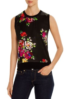 kate spade new york Rare Roses Sleeveless Sweater