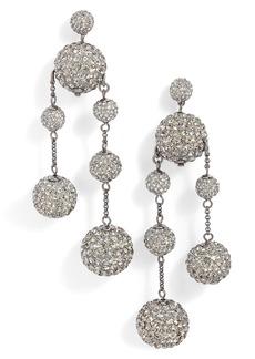 kate spade new york razzle dazzle asymmetrical drop earrings