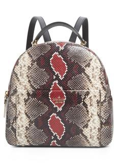 kate spade new york reese park - ethel snake embossed leather backpack