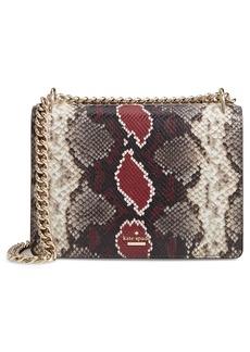 kate spade new york reese park - marci snake embossed leather shoulder bag