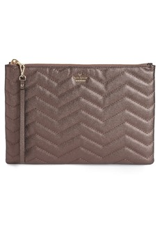 kate spade new york reese park – finley quilted leather clutch