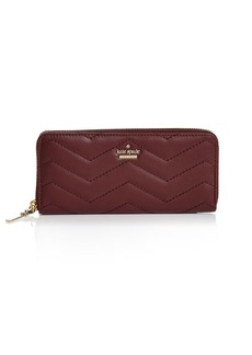 kate spade new york Reese Park Lindsey Zip-Around Leather Wallet