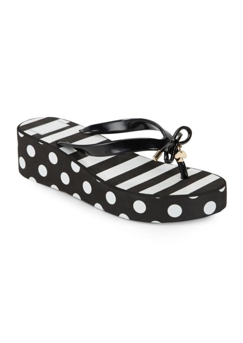 9e5a4949be5c Kate Spade Kate Spade New York Rhett Striped and Polka Flip Flops ...