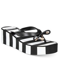 kate spade new york Rhett Striped Wedge Sandals